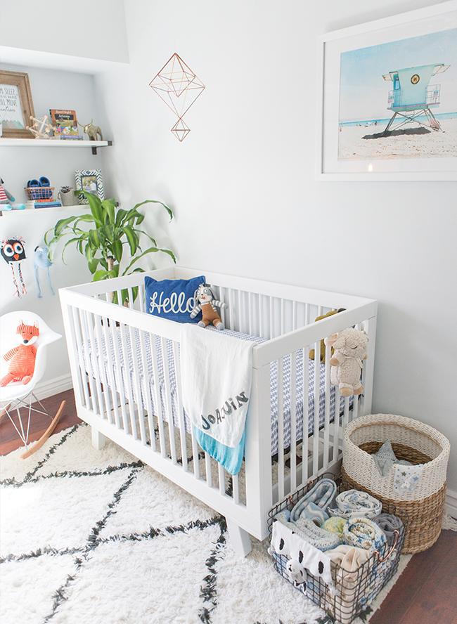 Amazing Boy Nursery: Inspired By This Cool Blue Modern Nursery