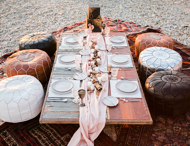 Moody Beach Elopement with Moroccan Details - Inspired by This