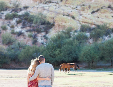Lakeside Engagement with Wild Horses - Inspired by This