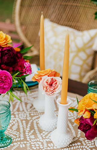 Bold & Brigth 70s Themed Bridal Shower - Inspired by This