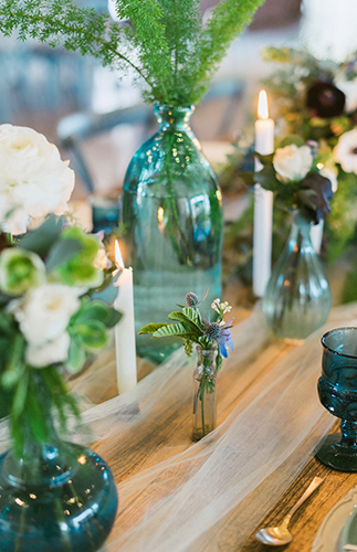 Green and Blue Winter Wedding - Inspired by This