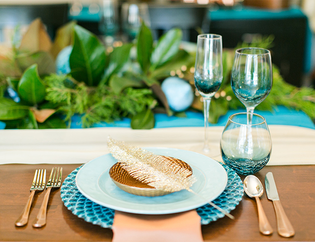 Teal Coastal Christmas Dinner Party - Inspired by This