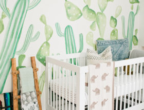 nursery decor, nursery inspiration, cacti nursery