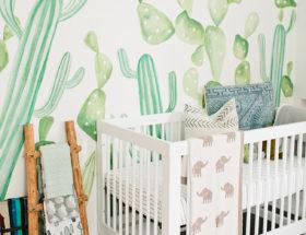 nursery decor, nursery inspiration, cacti nursery