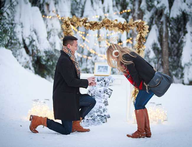 Magical Winter Wonderland Proposal Inspired By This
