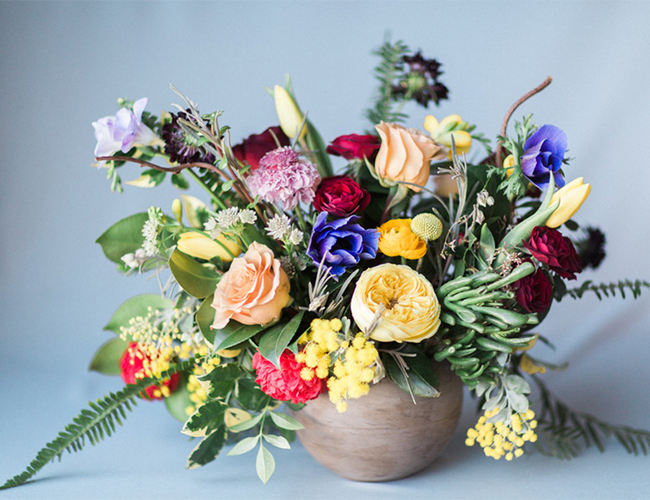 Monochromatic spring wedding flowers inspired by this monochromatic arrangements in order to showcase each color and to inspire couples to explore a variety of floral options when styling their wedding day junglespirit Choice Image