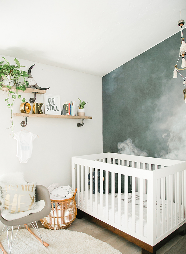 Crib Bedding Baby Boy Rooms: Modern Smoke Mural Nursery For A Baby Boy
