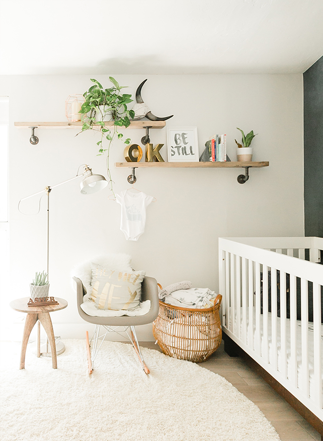 Our Little Baby Boy S Neutral Room: Modern Smoke Mural Nursery For A Baby Boy