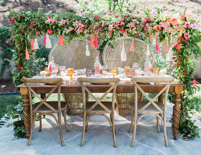 Lush Tangerine Amp Pink Bohemian Baby Shower Inspired By This