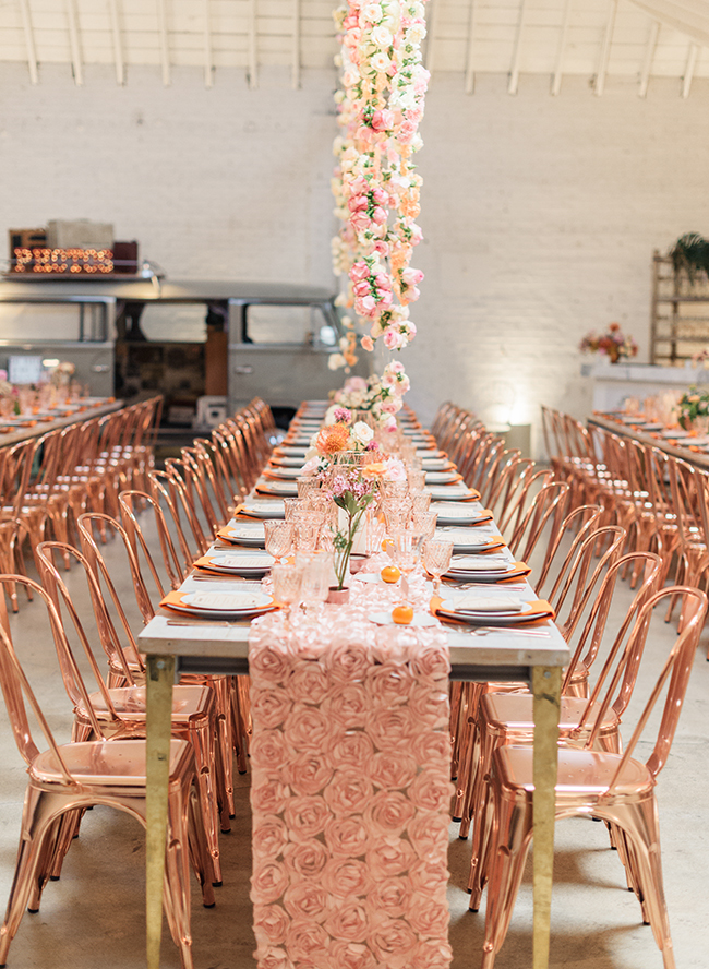 70s Dinner Party Ideas Part - 47: Gather Events Took The Dinner By Storm With A Ombré Paper Lantern Wall  Under The Paper Lantern, Plush Lounge Furniture And Killer Rose Gold Chairs  From ...