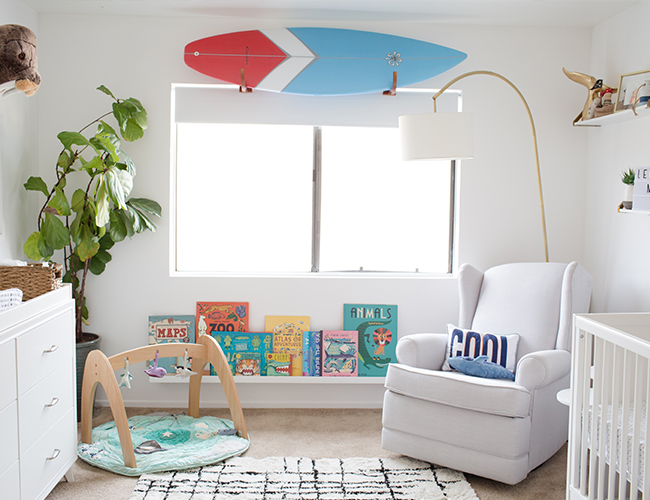 Ocean Surf Inspired Nursery Inspired By This