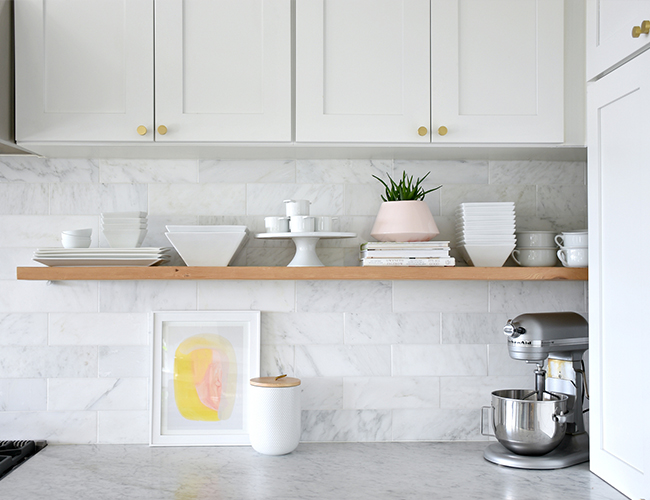 shelves for less 6 tips for styling open shelving in a kitchen inspired by this