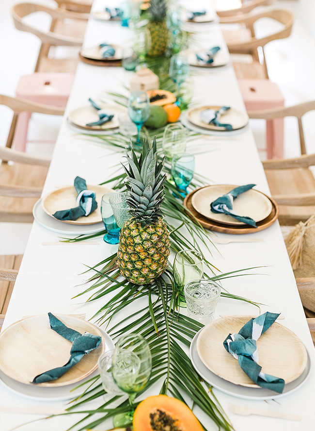 Papaya Amp Palm Leaves Tropical Baby Shower Inspired By This