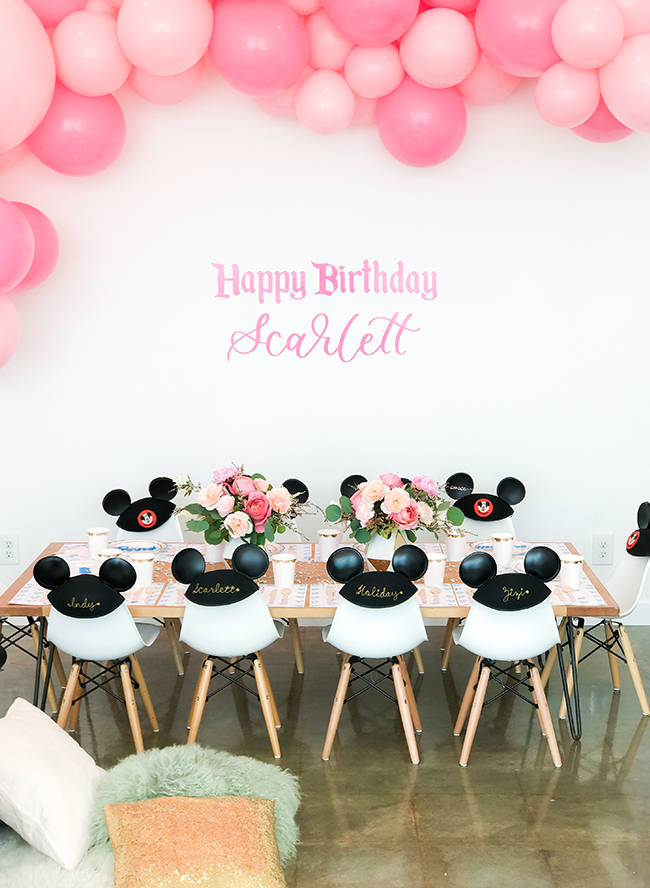 pink vintage disney birthday party inspired by this