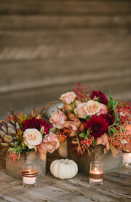 Fall Wedding Pumpkin Decor