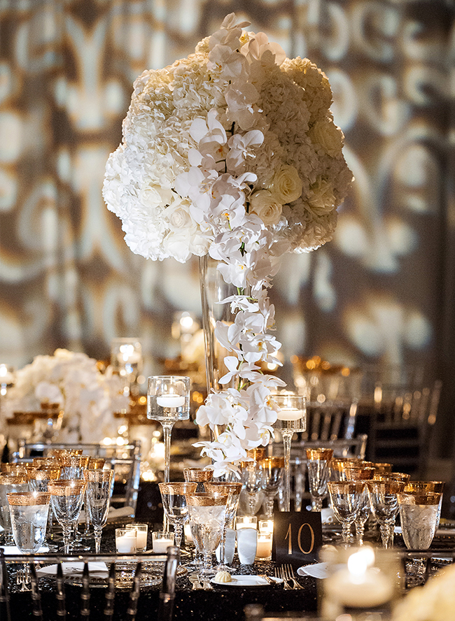 Glam Gatsby Decor for an Art Deco Wedding - Inspired By This