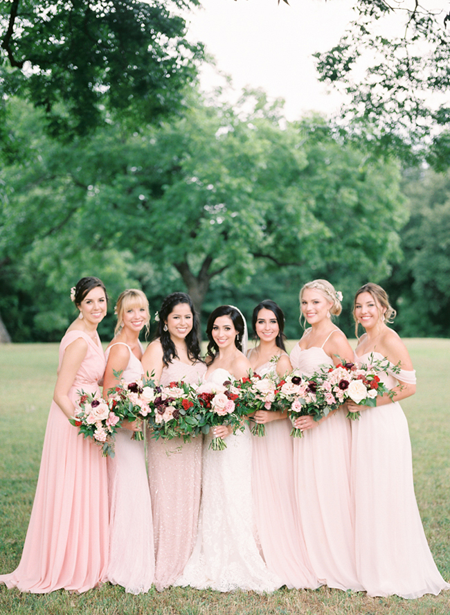 Red and Blush Wedding