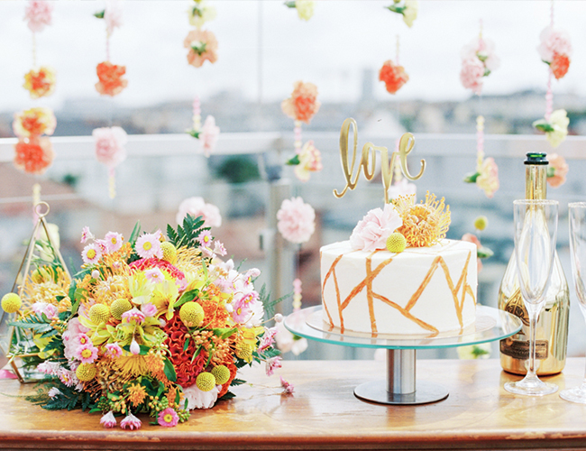 Rooftop Floral Bridal Shower