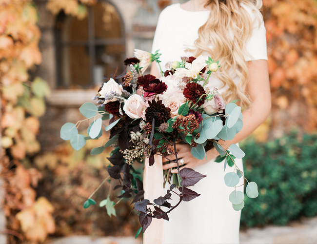 Burgundy and Blue wedding inspiration