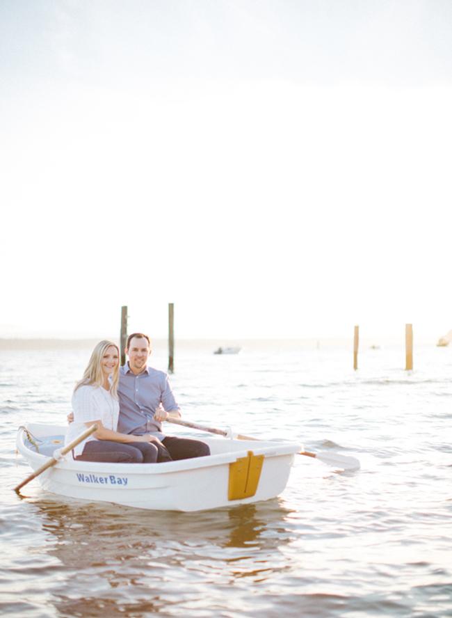 Beach Boat Ride Engagement