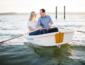Beach Boat Ride Engagement