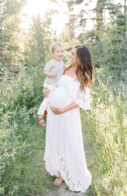 Family Maternity Photos by The River