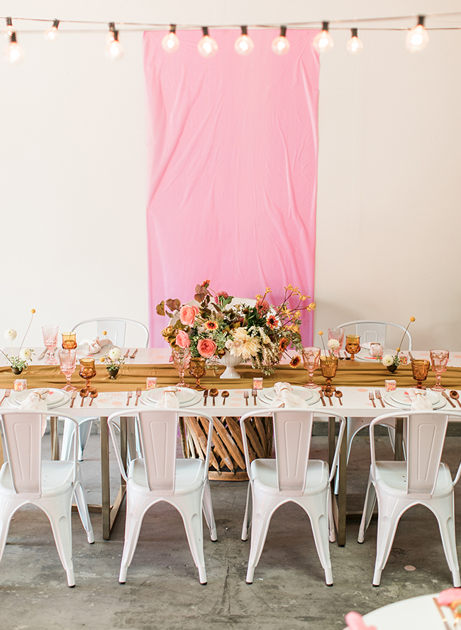 Vintage Pink and Yellow Baby Shower