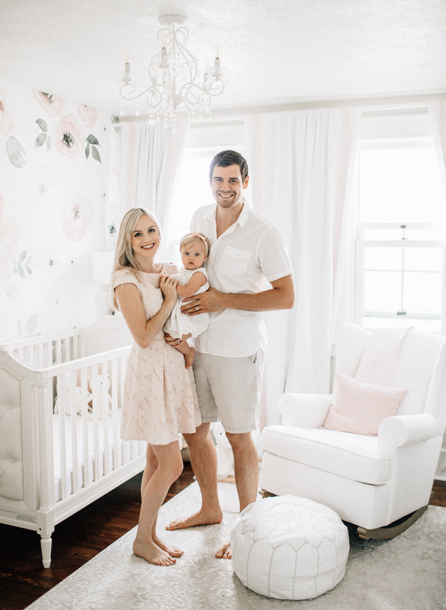 Baby Girl's Blush and White Nursery