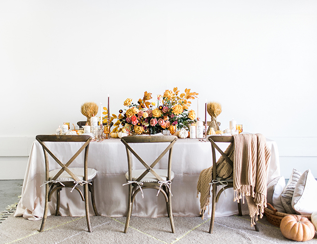 Copper Thanksgiving Tablescape