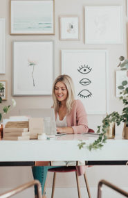 Neutral and Feminine Office Tour