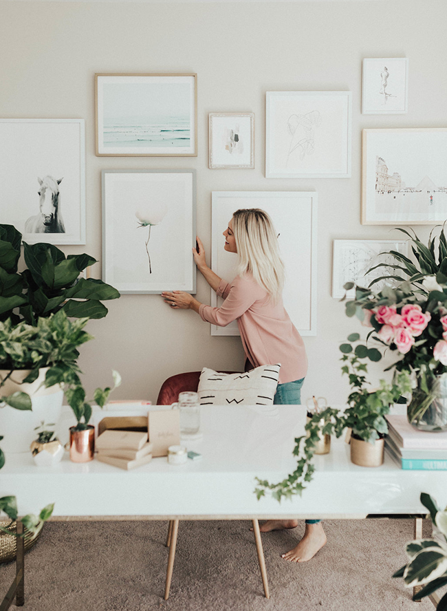 Katie Dean Jewelry's Neutral & Feminine Office