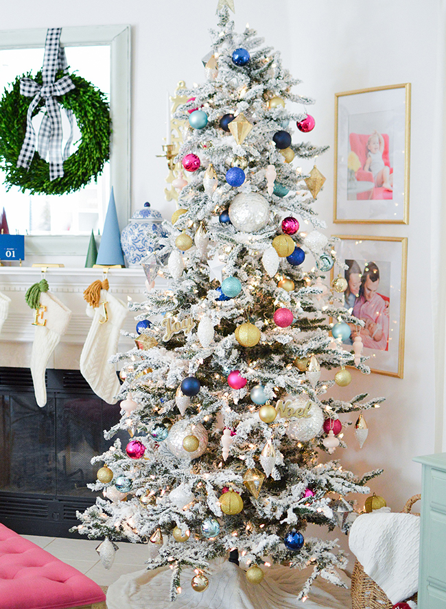 Pink and Blue Holiday Home Tour