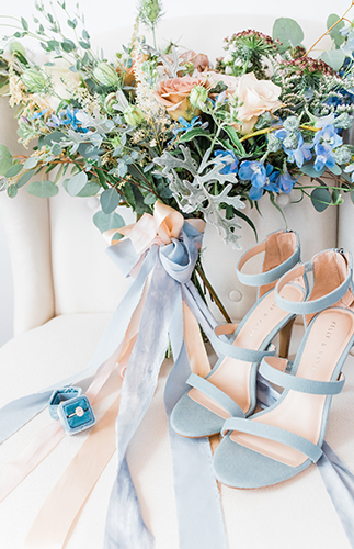 Blue Music Inspired Wedding