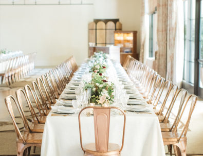 Metallic Copper Wedding Details