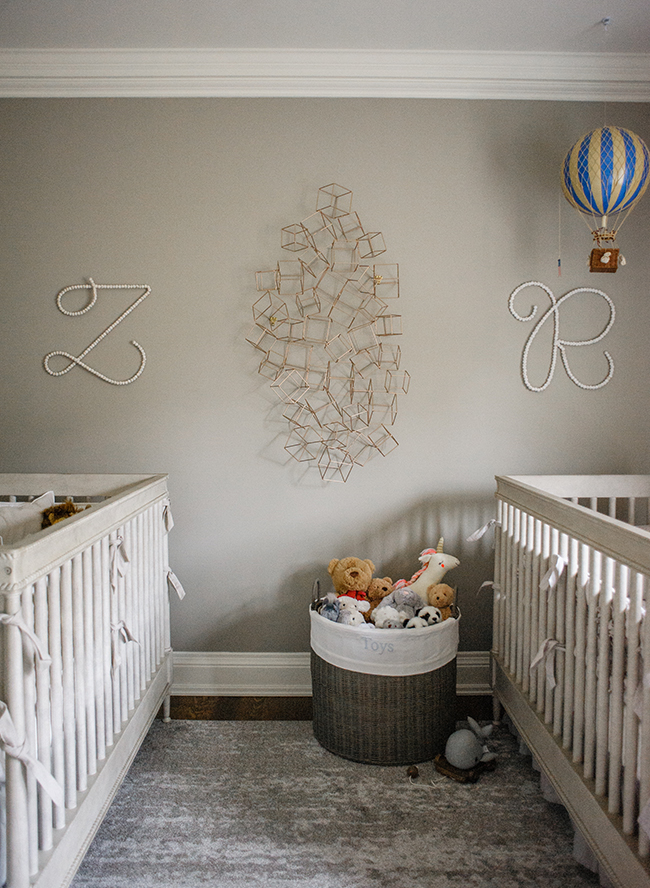 Elegant Grey Nursery For Twins Inspired By This