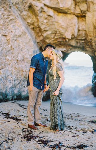 Cliffside Engagement Photos