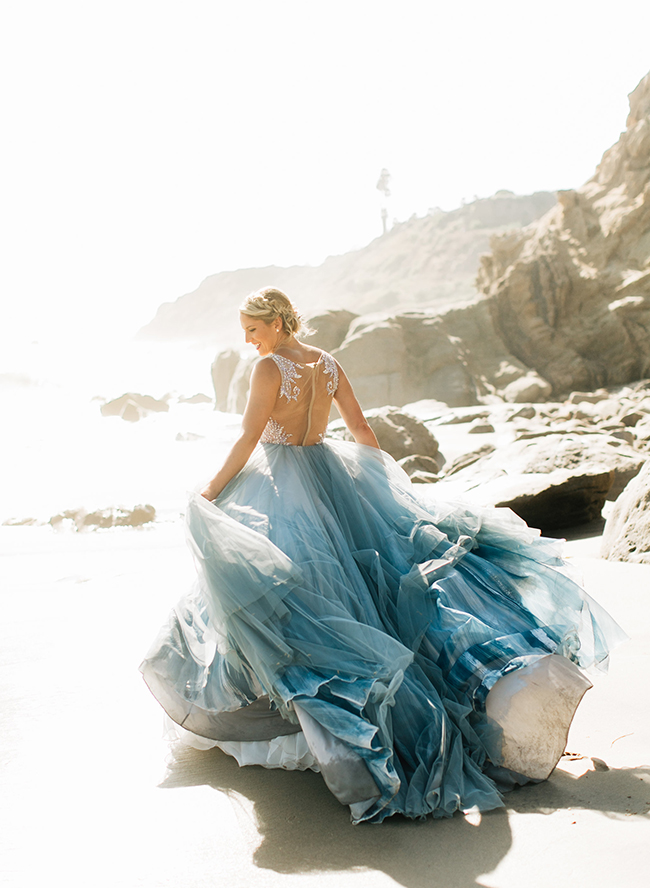 11 Dreamy Dusty Blue Wedding Dresses - Inspired By This