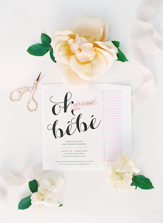 Black Blush Parisian Baby Shower Inspired By This