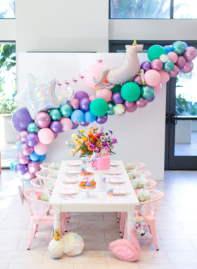 A Little Girls Magical Rainbow Birthday Party Inspired By This