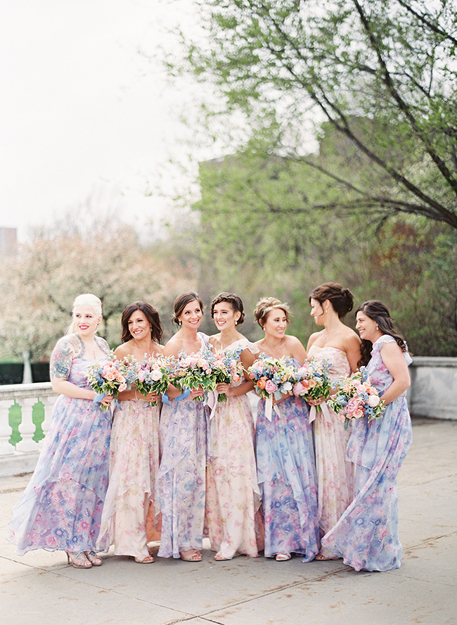 stunning on trend bridal parties