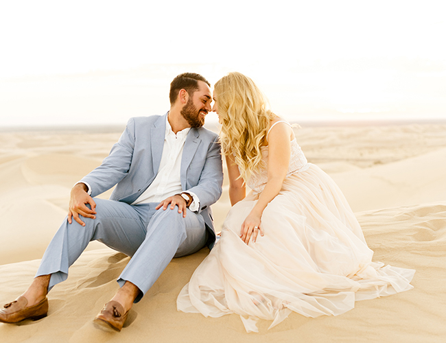 Sunset Engagement Photos in the Sand Dunes