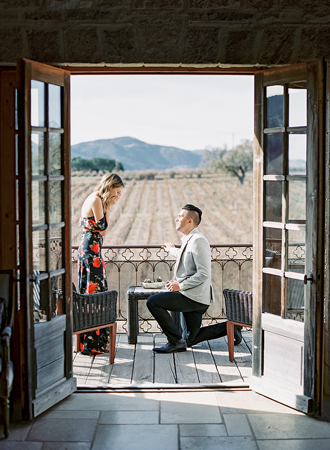 Proposal at Sunstone Winery