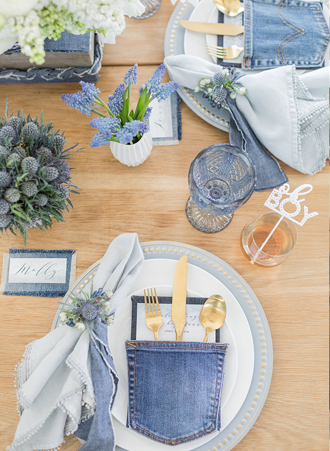 Blue Jean Baby Shower for Ali Fedotowsky