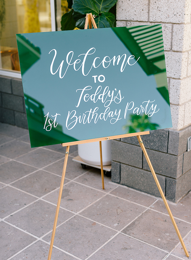 A Boy S Green Tropical First Birthday Party Inspired By This