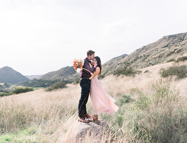 Romantic Mountainside Engagement Photos