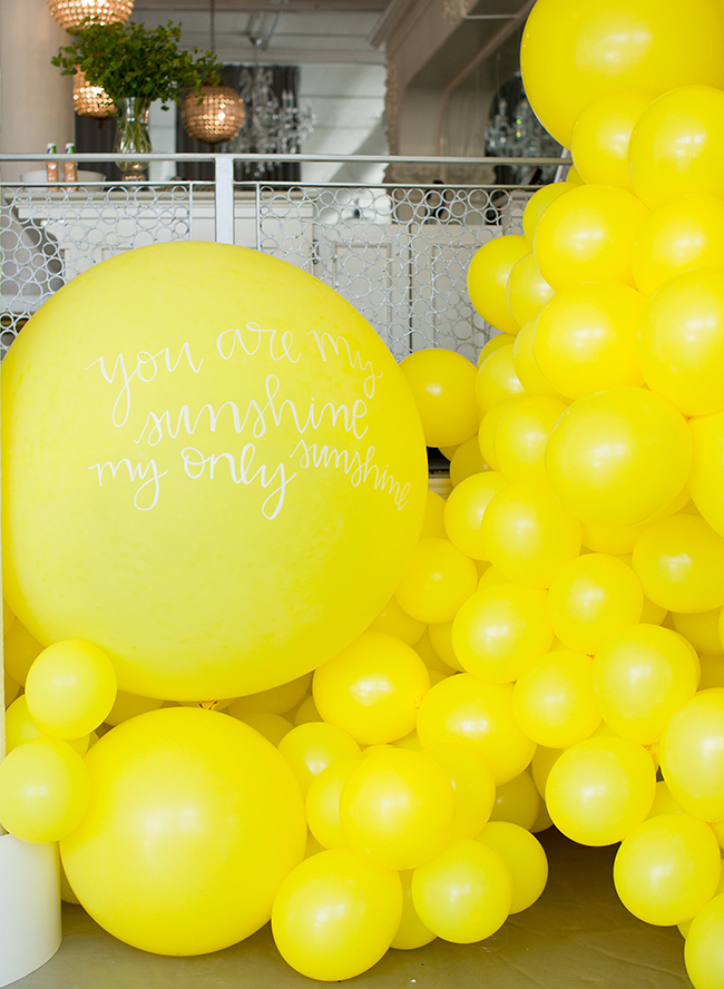 You Are My Sunshine First Birthday Party for Twins
