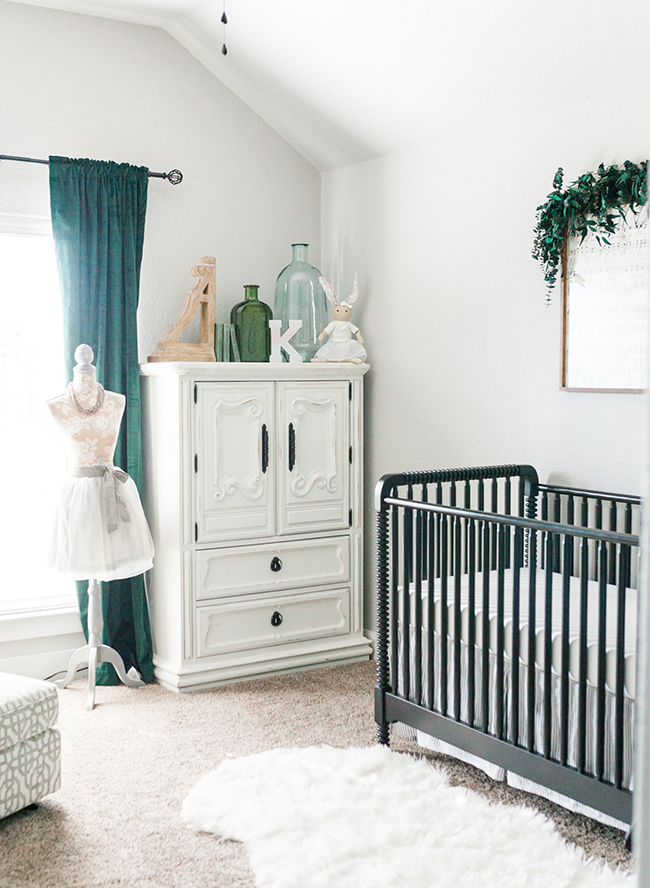 Gray And Hunter Green Nursery Newborn Photos Inspired