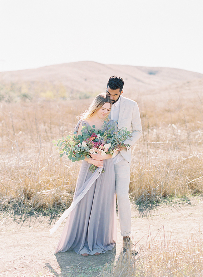 Romantic Lavender Engagement Photos