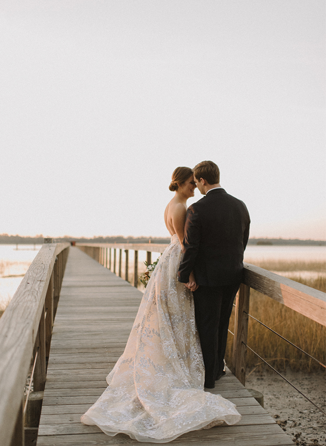 Southern Plantation Wedding with a Beautiful Blue Gown