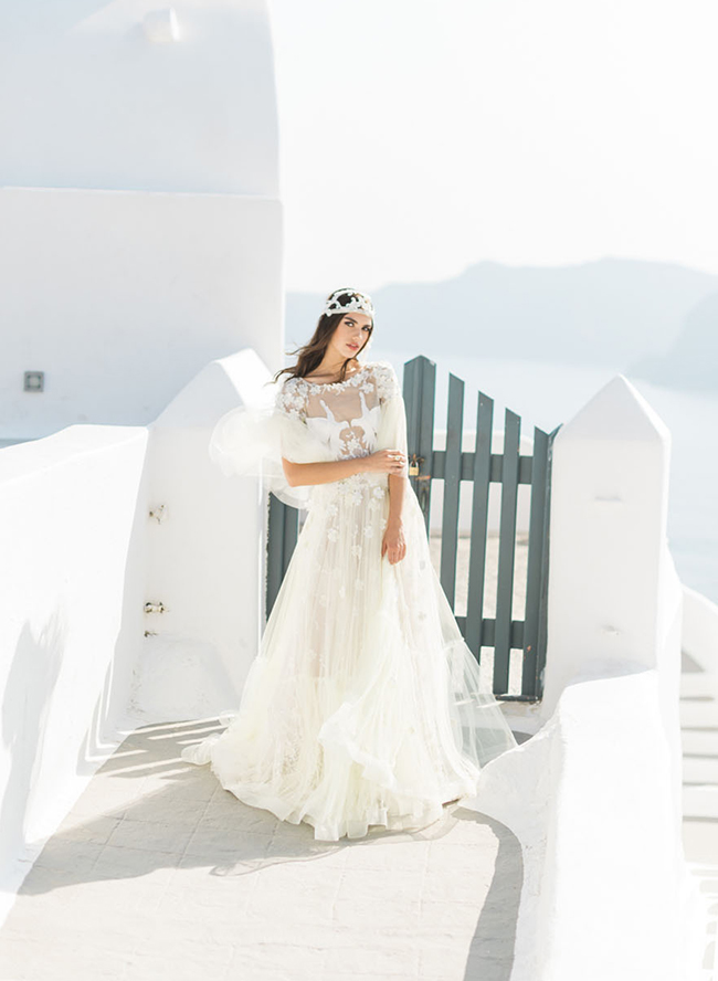 Pink Modern Santorini Wedding Inspiration